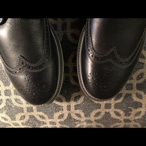 GEOX New Men's Black shoes leather never worn